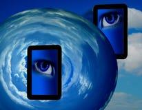 Tabuletas do PC que olham globais Imagem de Stock