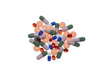 Tabuletas e cápsulas medicinais Fotografia de Stock