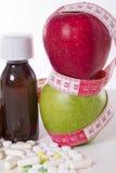 Tabuletas e drogas para a perda de peso Fotografia de Stock Royalty Free