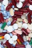 Tabuletas e medicinas Fotografia de Stock