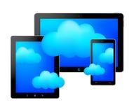 Tabuletas e nuvens Imagens de Stock Royalty Free