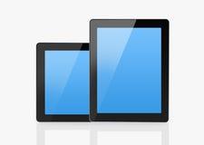 Tabuletas espertas com tela azul Fotos de Stock Royalty Free