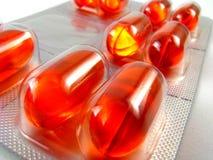 Tabuletas líquidas da medicamentação do gel Foto de Stock