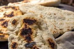 Tabun традиционный путь делать хлеб пита daruze Стоковые Фотографии RF