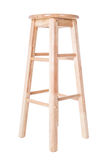 Taburete alto de la pierna de madera aislado en blanco fotografía de archivo libre de regalías