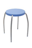 Taburete azul del asiento Imágenes de archivo libres de regalías