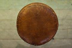 Taburete de cuero en el top Foto de archivo libre de regalías