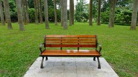 Taburete en el parque fotos de archivo