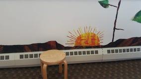 Taburete en un cuarto de niño Fotografía de archivo