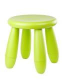Taburete plástico verde del bebé Imágenes de archivo libres de regalías