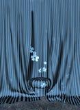 Taburete y cortinas libre illustration
