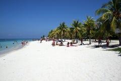 Tabyana beach. The famous tropical beach of tabyana beach in roatan island in honduras.febrary 2008 Royalty Free Stock Photo