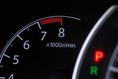 Tacômetro do carro do RPM fotos de stock royalty free
