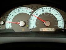 Tacômetro em um carro foto de stock royalty free