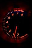 Tacômetro moderno do carro imagem de stock royalty free