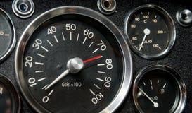 Tacômetro, termômetro e manómetro Fotos de Stock Royalty Free