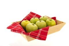Tac zieleni jabłka obrazy stock