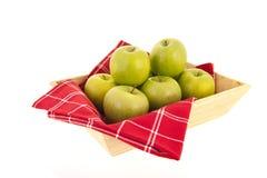 Tac zieleni jabłka zdjęcia royalty free