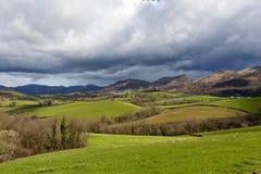 Taca krajobrazowy Sare, Francja Obraz Stock