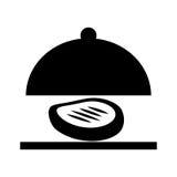 Taca serwer z mięso odosobnioną ikoną ilustracja wektor