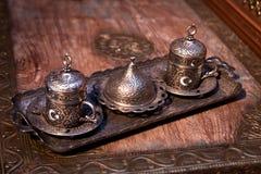 Taca ustawiająca kawa Turecczyzna, Turcja orny zdjęcie royalty free