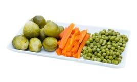 Taca z odparowanymi warzywami Zdjęcia Stock