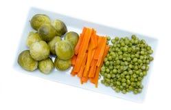 Taca z odparowanymi warzywami od above Zdjęcia Stock