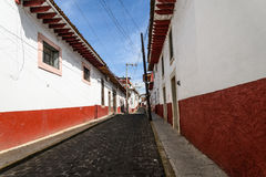 Tacambaro streets. In Michoacan-Mexico Stock Photos