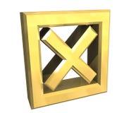 Tacca di Ko in oro - 3D illustrazione di stock
