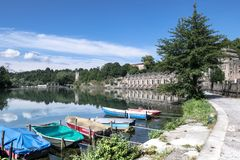 Taccani-Wasserkraftwerk stockfotografie