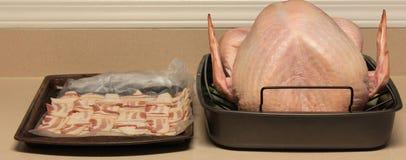 Tacchino 1 di raduno del tessuto del bacon Immagini Stock Libere da Diritti
