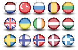 Tacchino olandese Russia della bandiera Fotografia Stock