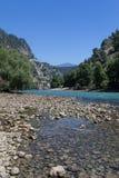 Tacchino verde della diga del canyon Fotografia Stock Libera da Diritti