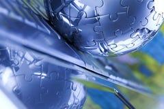 Taccuino & puzzle Immagini Stock