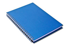 Taccuino blu isolato fotografie stock libere da diritti