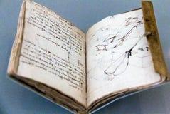 Taccuino (codice Forster I2), 1490-3, da Leonardo Da Vinci Fotografia Stock Libera da Diritti