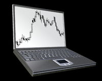 Taccuino Computer- Immagini Stock