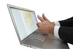 Taccuino/computer portatile isolato Fotografia Stock Libera da Diritti