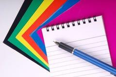 Taccuino con la penna Fotografia Stock