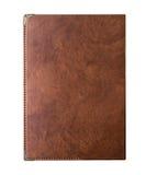 Taccuino d'annata di scrittura del cuoio della pelle di Brown Fotografia Stock Libera da Diritti