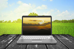 Taccuino del computer portatile Fotografie Stock Libere da Diritti