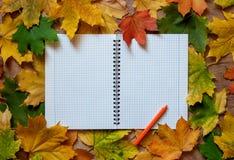 Taccuino di autunno Fotografia Stock Libera da Diritti