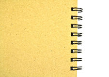 Taccuino di carta riciclato fotografia stock libera da diritti