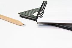 Taccuino due con la matita. Fotografia Stock Libera da Diritti