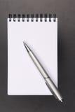 Taccuino e matita Fotografia Stock