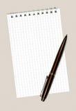 Taccuino e penna Fotografia Stock