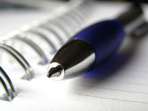 Taccuino e penna 3 Fotografia Stock Libera da Diritti