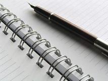 Taccuino e penna 6 Fotografia Stock Libera da Diritti