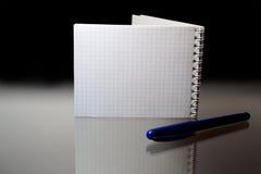 Taccuino e penna Fotografia Stock Libera da Diritti