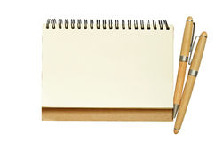 Taccuino e penne Fotografie Stock
